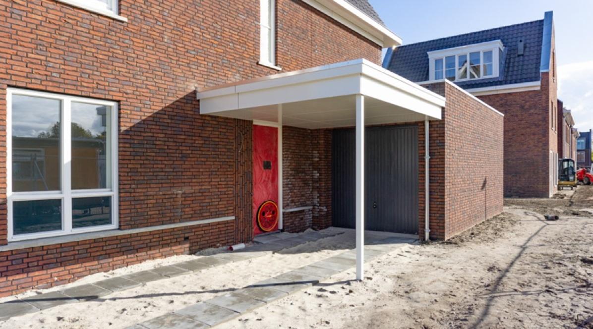 Luchtdichtheidsmetingen op bouwplaats in Dongen