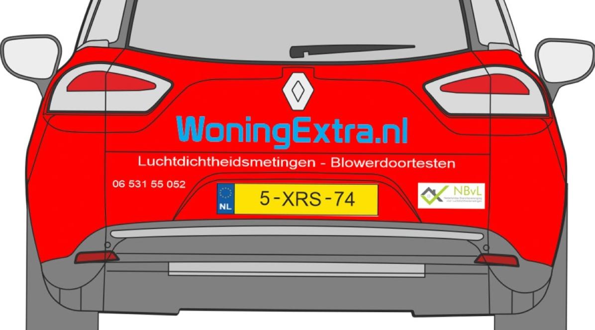 Nieuwe autoreclame voor WoningExtra.nl